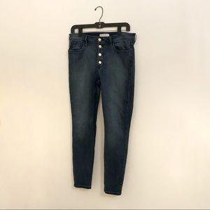 Guess Dark Wash High Waisted Denim Jeans